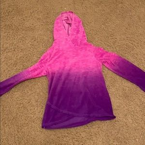 Ombré pink and purple sweatshirt